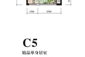 恒地大道中心 34.81㎡ 租价3300元/季度