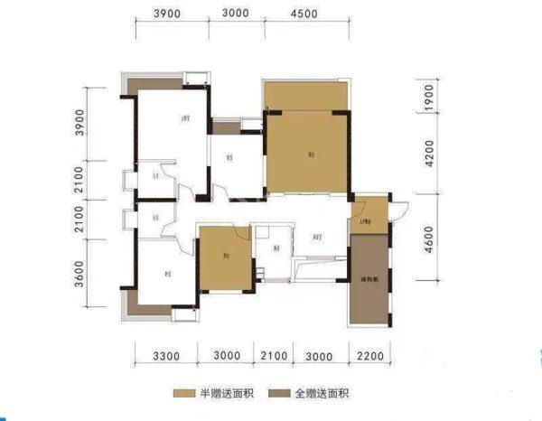 西城国际 3室2厅2卫 119.35㎡ 80万